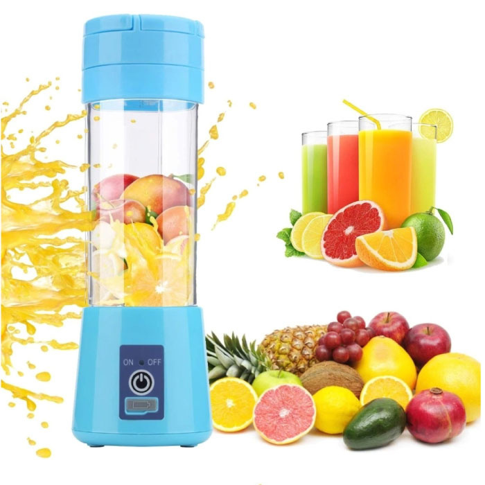 Tragbarer Mixer mit 6 Schneidklingen - Tragbarer Smoothie Maker Juicer Juicer Blue