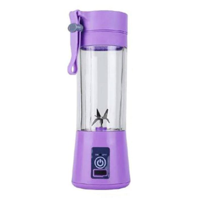 Tragbarer Mixer mit 6 Fräsklingen - Tragbarer Smoothie Maker Juicer Juice Extractor Purple