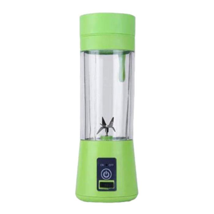 Mélangeur portable avec 6 lames de fraisage - Extracteur de jus portable Smoothie Maker Juicer Green