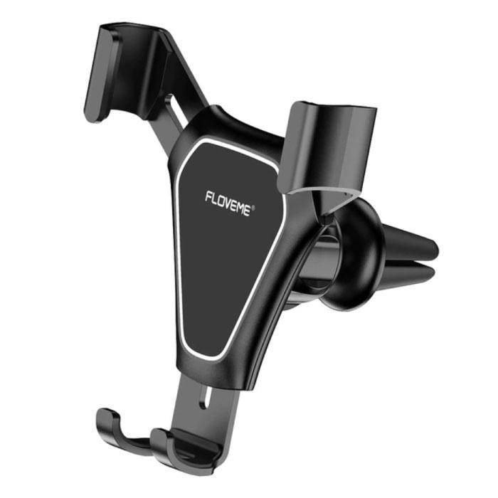 Support de téléphone universel pour voiture avec clip d'aération - Support de smartphone pour tableau de bord noir