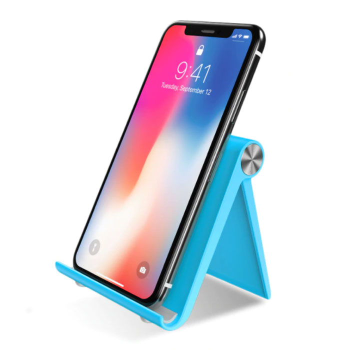 Universele Telefoonhouder Bureau Standaard - Videobellen Smartphone Holder Desk Stand Blauw