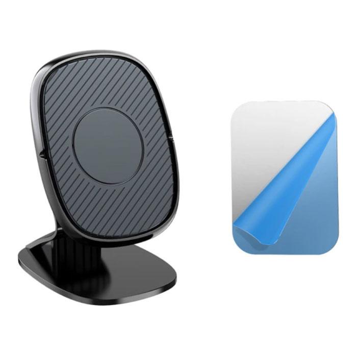 Support de téléphone magnétique pour voiture avec support de tableau de bord et autocollant magnétique - Support universel pour smartphone noir