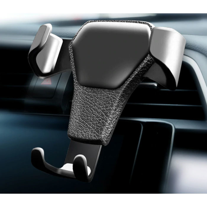 Universal Phone Holder Car with Air Grille Clip - Gravity Dashboard Smartphone Holder Black