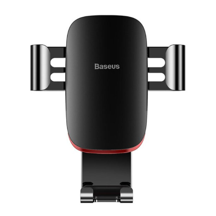 Support Téléphone Universel Voiture avec Clip Grille Air - Support Smartphone Gravity Dashboard Noir