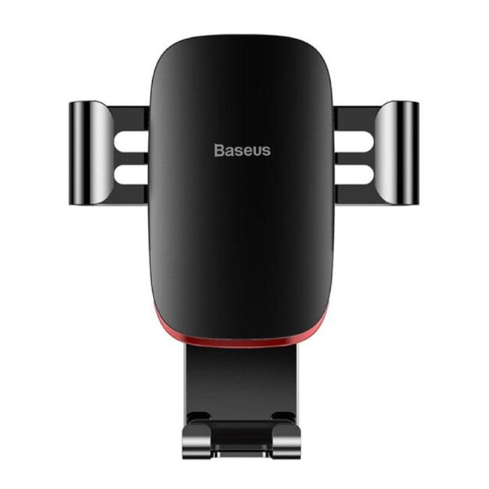 Universele Telefoonhouder Auto met Luchtrooster Clip - Zwaartekracht Dashboard Smartphone Holder Zwart