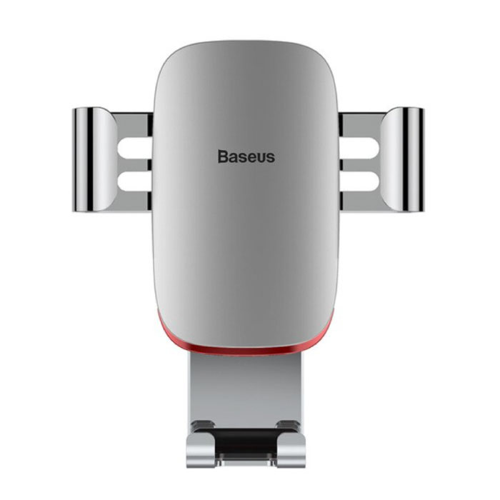 Universele Telefoonhouder Auto met Luchtrooster Clip - Zwaartekracht Dashboard Smartphone Holder Zilver
