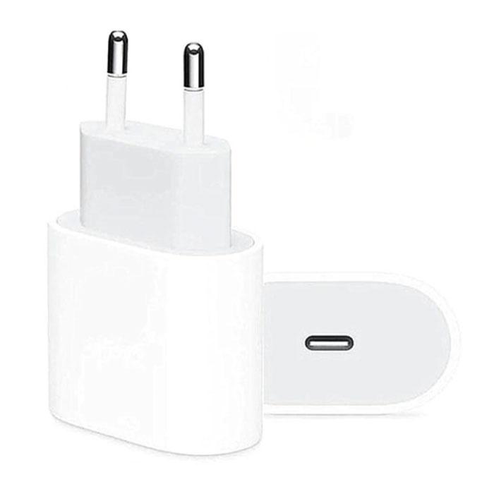 20W PD USB-C Ladegerät - Stromversorgung USB-Schnellladung - Netzstecker Ladegerät Wandladegerät AC Home Ladegerät Adapter Weiß