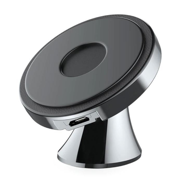 Qi Wireless Autoladegerät 10W - Dashboard Standard Ladegerät Universal Wireless Autoständer Ladekissen Schwarz