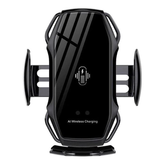10W Wireless Qi Car Charger - Airvent Clip Charger Universal Wireless Car Charging Pad Black