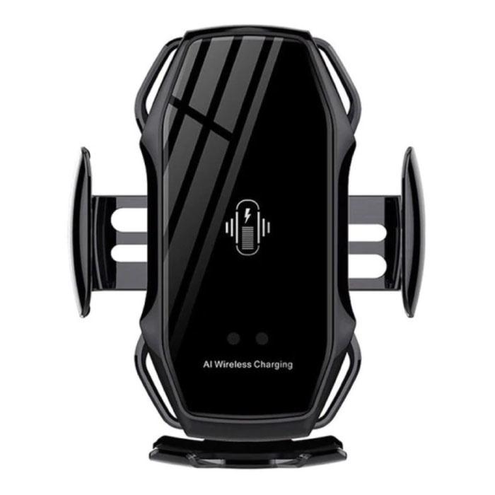 Chargeur de voiture sans fil Qi 10W - Chargeur de clip Airvent Chargeur de voiture universel sans fil noir