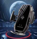 FLOVEME 10W Draadloze Qi Autolader - Airvent Clip Oplader Universeel Wireless Car Charging Pad Rood