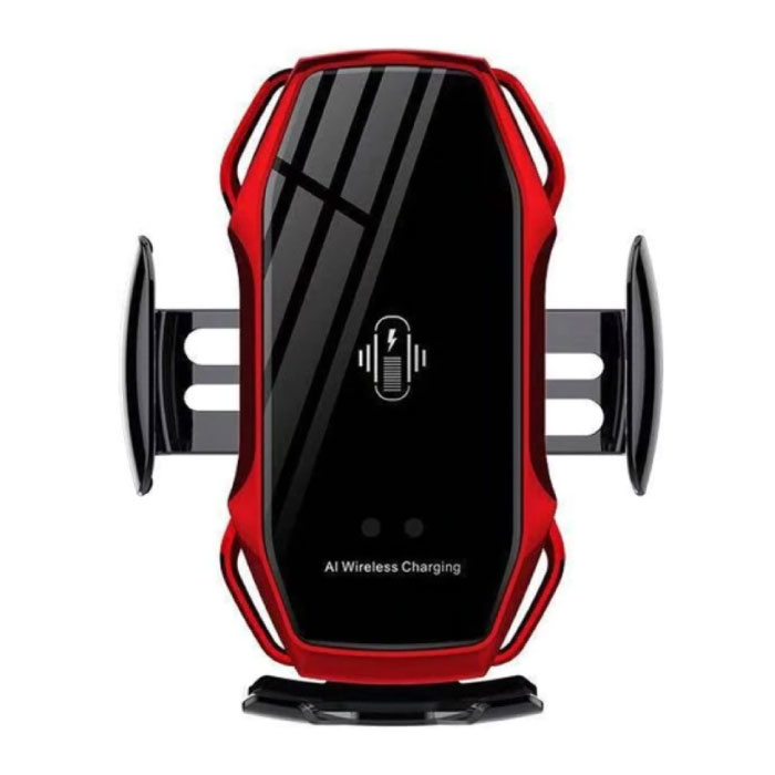 10W Wireless Qi Car Charger - Airvent Clip Charger Universal Wireless Car Charging Pad Red