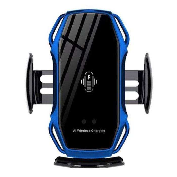 Chargeur de voiture sans fil Qi 10W - Chargeur de clip Airvent Chargeur universel pour voiture sans fil Bleu