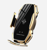 FLOVEME 10W Draadloze Qi Autolader - Airvent Clip Oplader Universeel Wireless Car Charging Pad Goud
