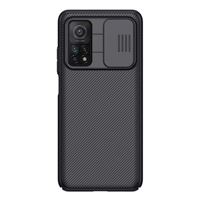 Xiaomi Mi 10T CamShield Hoesje  met Camera Slider - Shockproof Case Cover Cas TPU Zwart