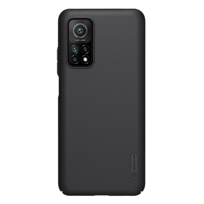 Xiaomi Mi 10T Frosted Shield Case - Stoßfeste Gehäuseabdeckung Cas Black