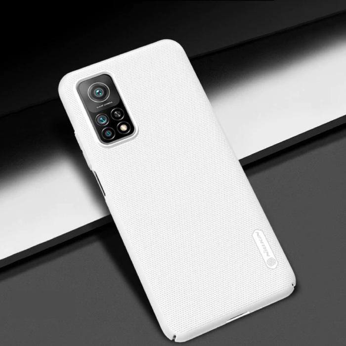 Xiaomi Mi 10T Lite Frosted Shield Hoesje - Shockproof Case Coer Cas Wit