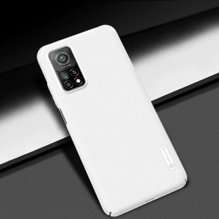 Xiaomi Mi 10T Frosted Shield Hoesje - Shockproof Case Cover Cas Wit