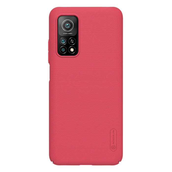 Coque Xiaomi Mi 10T Pro Frosted Shield - Coque Antichoc Coer Cas Rouge
