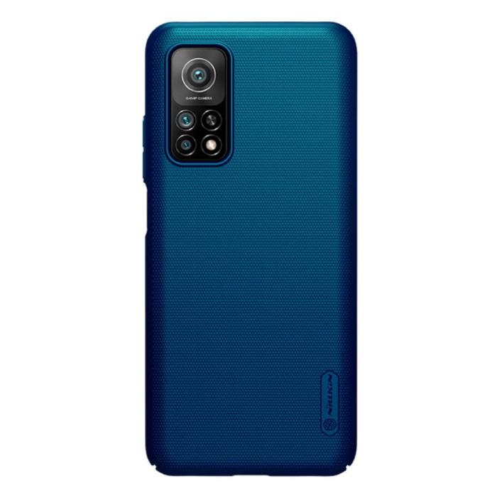 Xiaomi Mi 10T Frosted Shield Hoesje - Shockproof Case Cover Cas Blauw