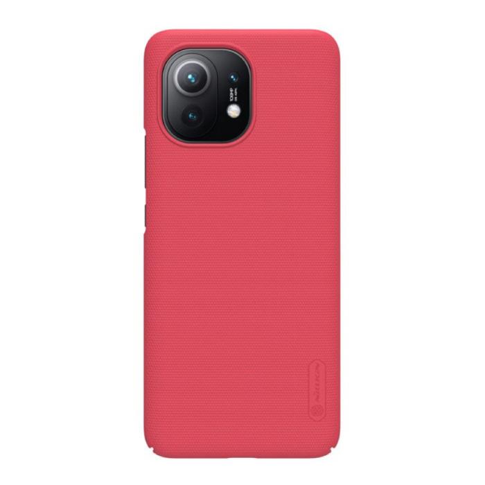 Xiaomi Mi 11 Frosted Shield Case - Stoßfeste Gehäuseabdeckung Cas Red