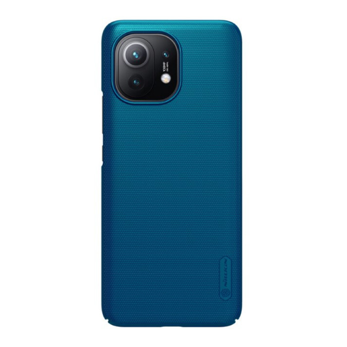 Xiaomi Mi 11 Frosted Shield Case - Shockproof Case Cover Cas Blue