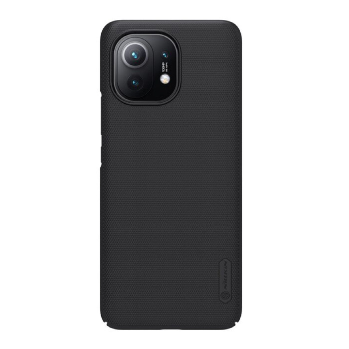 Xiaomi Mi 11 Frosted Shield Case - Shockproof Case Cover Cas Black
