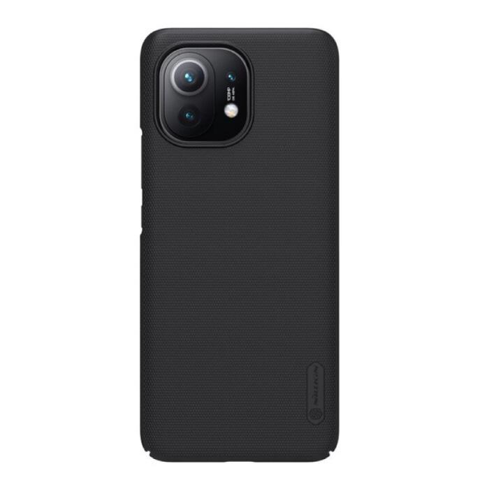 Xiaomi Mi 11 Frosted Shield Hoesje - Shockproof Case Cover Cas Zwart