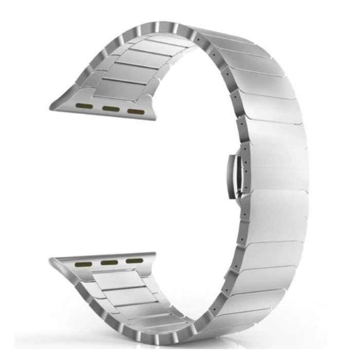 Metal Strap for iWatch 44mm - Bracelet Wristband Stainless Steel Watchband Silver