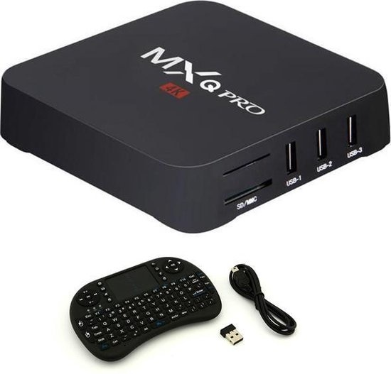 MXQ Pro 4K TV Box Media Player Android Kodi - 1 Go de RAM - 8 Go de stockage + clavier sans fil
