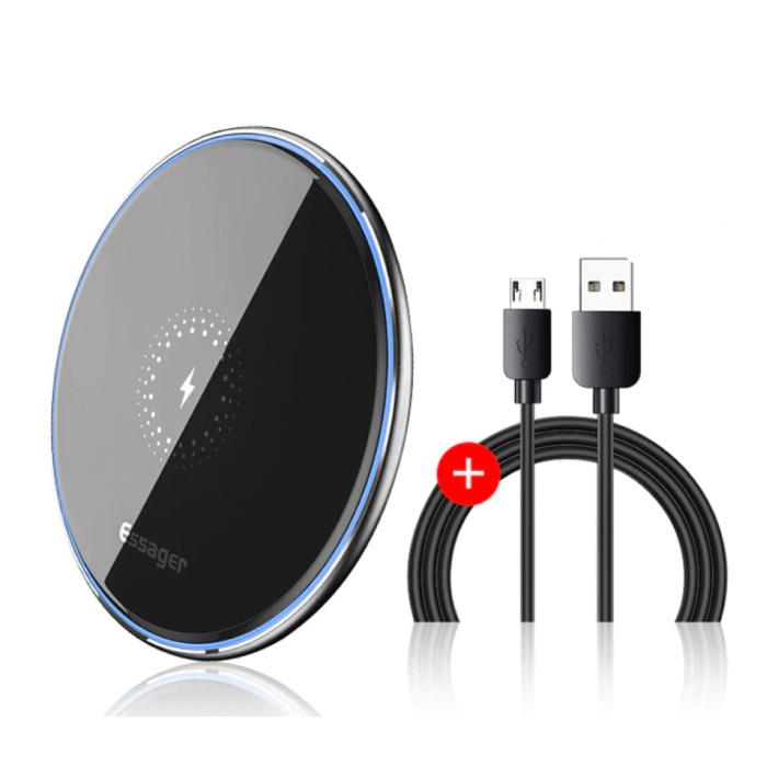 Chargeur sans fil universel 10W Qi - Chargeur sans fil à charge rapide 2A noir