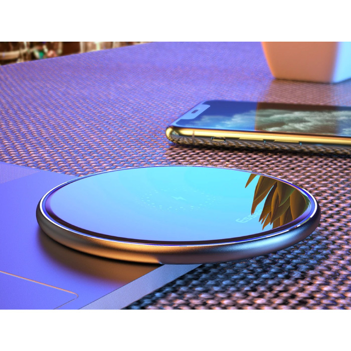 Essager 10W Qi Universele Draadloze Oplader - 2A Snelladen Wireless Charging Pad Wit