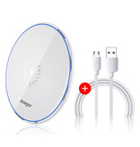 Essager 10W Qi Universal Wireless Charger - 2A Wireless Charging Charging Pad weiß