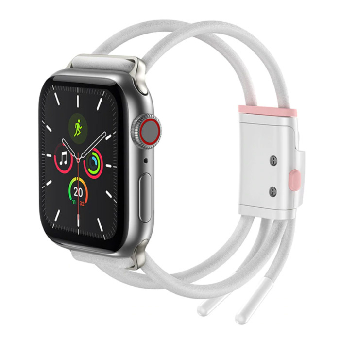 Sport Band for iWatch 38mm / 40mm - Cotton Bracelet Wristband Watchband White