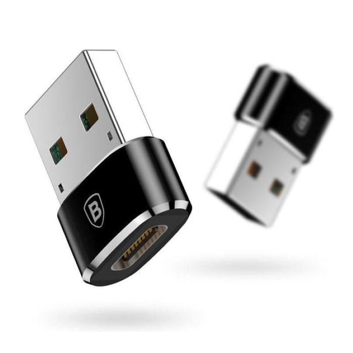 USB naar Type C Adapter Converter - USB-C Vrouwelijk / USB Mannelijk - 2.4A Snelladen en Data Overdracht