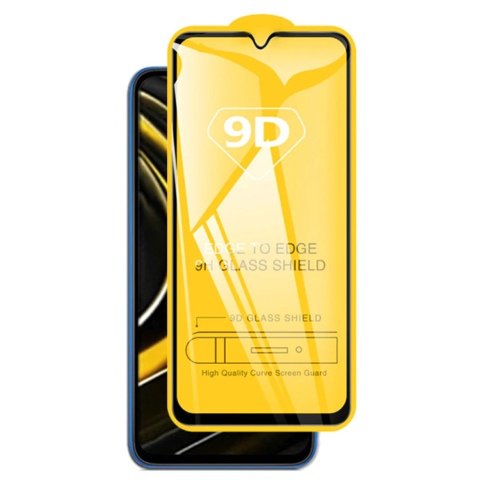 2er-Pack Xiaomi Poco M3 Displayschutzfolie 9D-Glasscheibe aus gehärtetem Glas