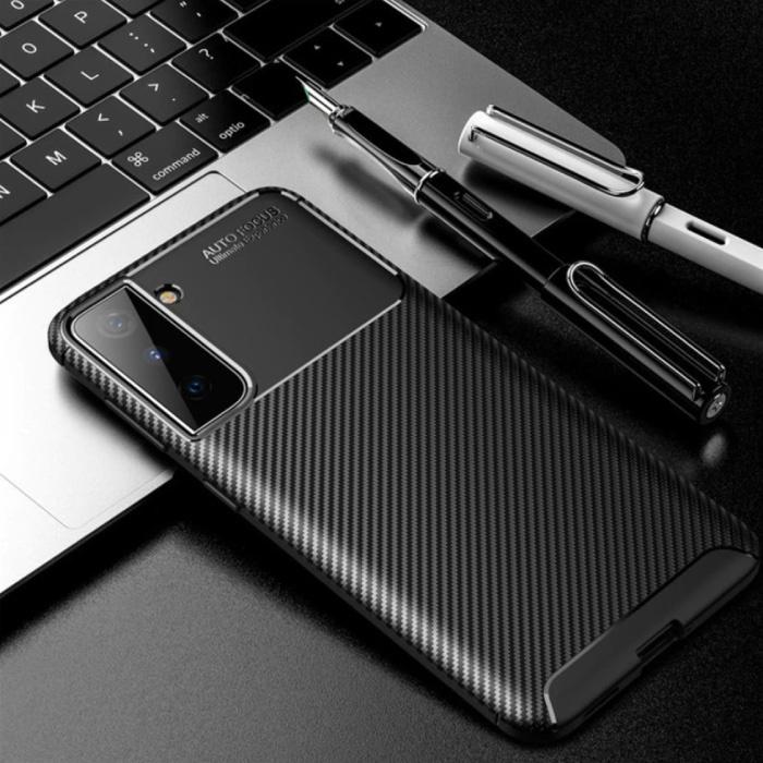 Coque Samsung Galaxy S21 Plus - Coque antichoc Silicone Rubber Cover Noir