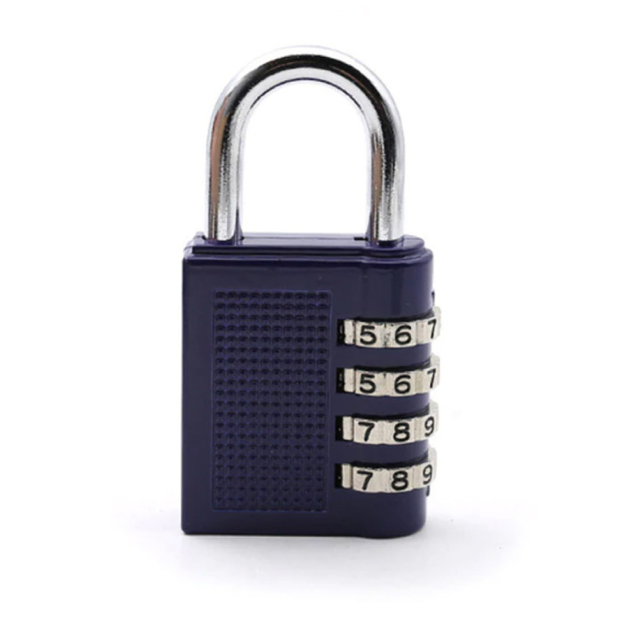 Padlock Combination - Weather Resistant Bicycle Lock Chain Lock Anti-Theft Stainless Steel Blue