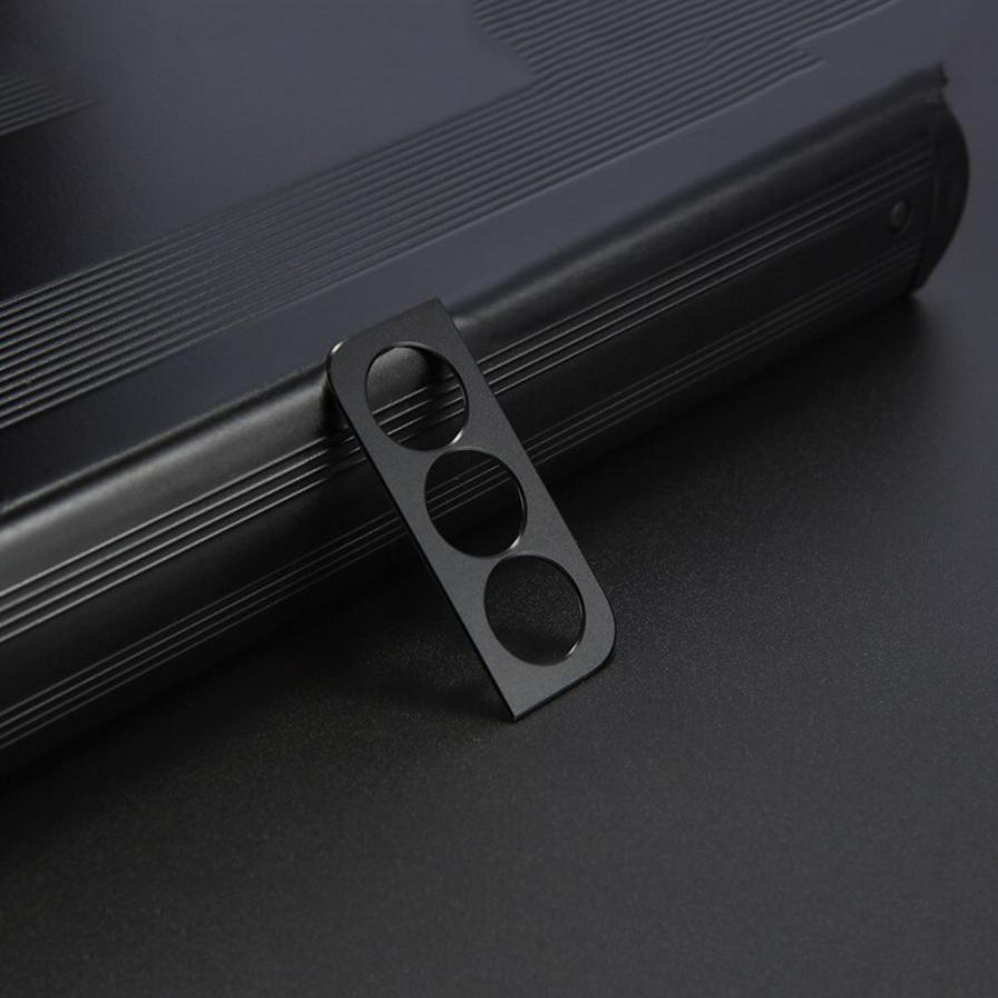 Samsung Galaxy S21 Plus Metallkamera-Objektivabdeckung - Stoßfester Gehäuseschutz Schwarz