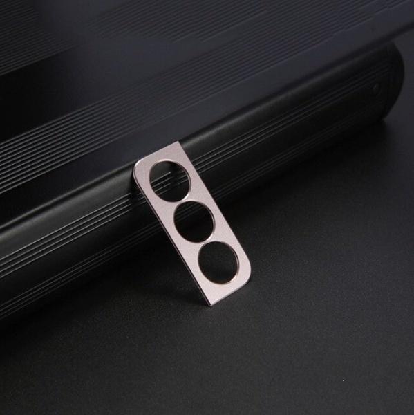 Cache objectif en métal pour appareil photo Samsung Galaxy S21 Plus - Coque antichoc Or rose