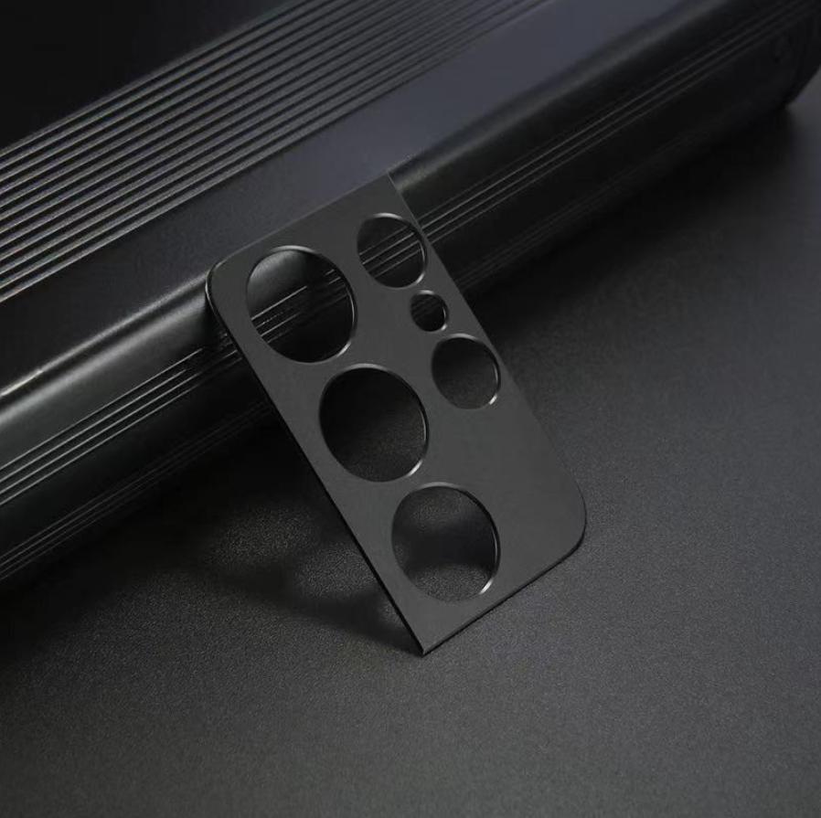 Cache objectif en métal pour appareil photo Samsung Galaxy S21 Ultra - Protection antichoc noir