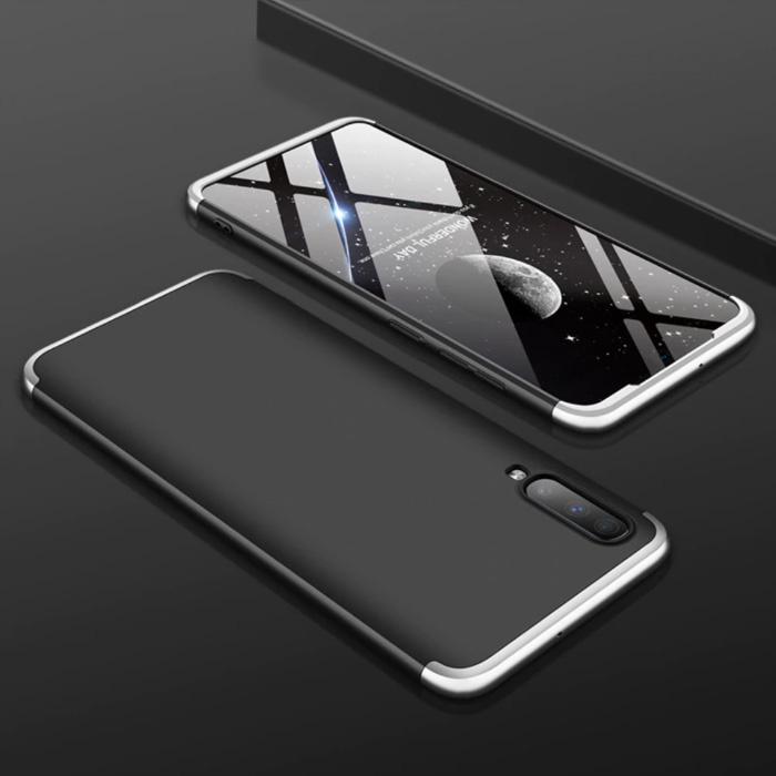 Samsung Galaxy A10s Hybrid Hoesje - Full Body Shockproof Case Cover Zwart-Wit