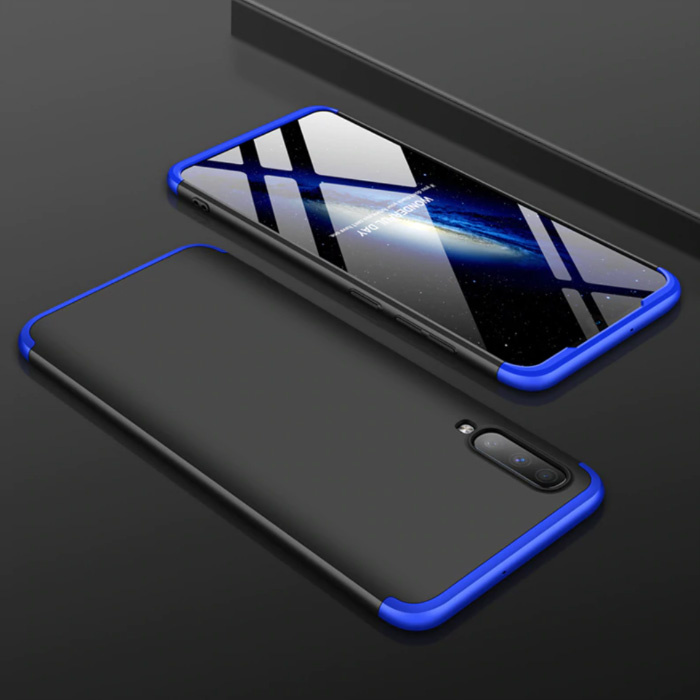 Samsung Galaxy A40 Hybrid-Hülle - Ganzkörper-Stoßdämpfer-Hülle Schwarz-Blau