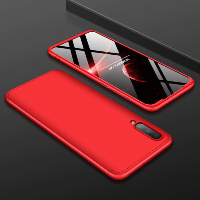 Samsung Galaxy A50s Hybrid-Hülle - Ganzkörper-Stoßdämpfer-Hülle Rot
