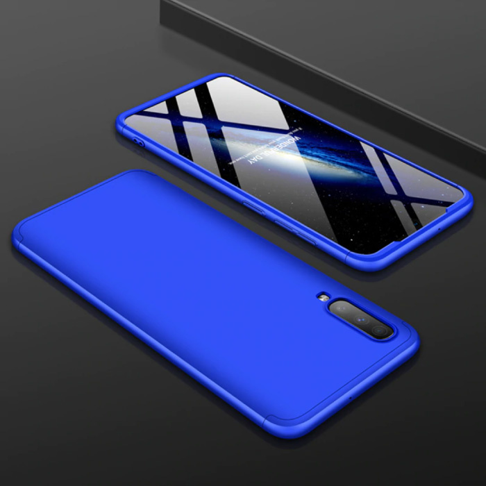Samsung Galaxy A80 Hybrid Case - Ganzkörper-Stoßdämpfer-Hülle blau