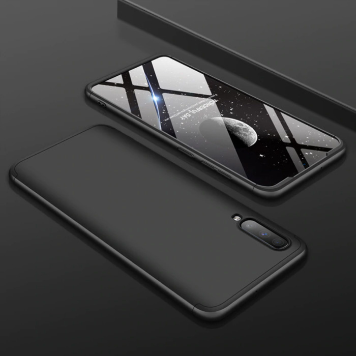 Samsung Galaxy M30 Hybrid Hoesje - Full Body Shockproof Case Cover Zwart