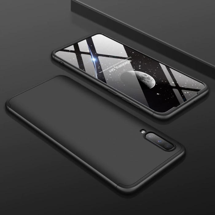 Samsung Galaxy A50 Hybrid Case - Ganzkörper-Stoßdämpfer-Hülle schwarz