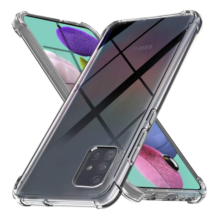 Samsung Galaxy A91 Transparente Stoßstangenhülle - Klare Hülle Silikon TPU Anti-Shock