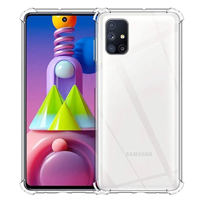 Coque Bumper Transparente Samsung Galaxy M51 - Coque Transparente Silicone TPU Anti-Choc