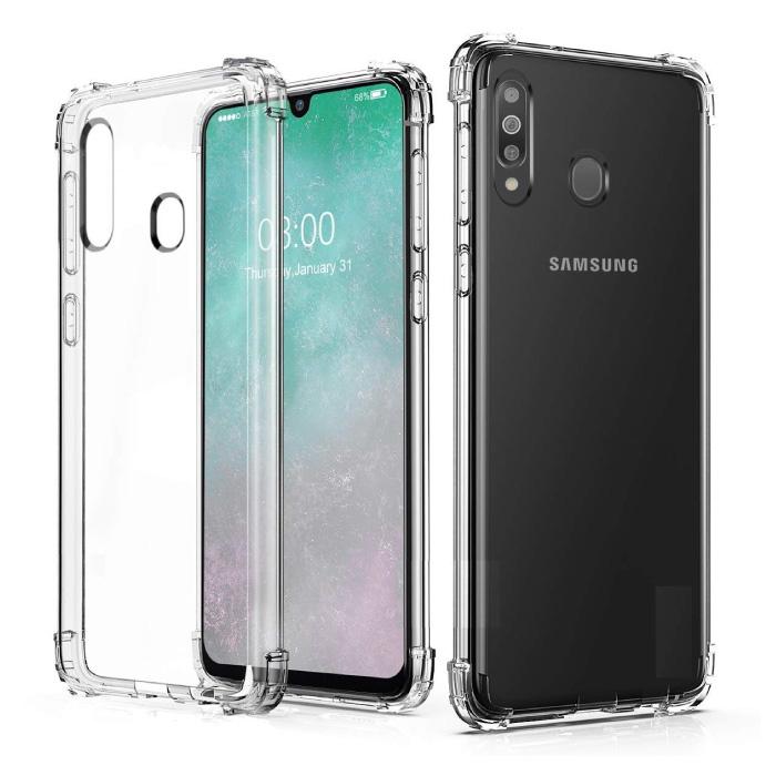 Samsung Galaxy M30 Transparente Stoßstangenhülle - Klare Hülle Silikon TPU Anti-Shock